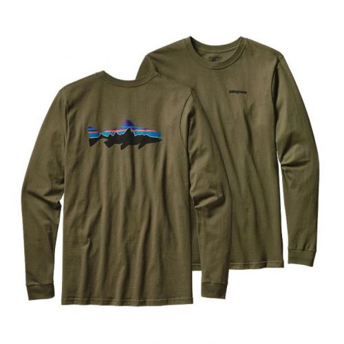M's LS Fitz Roy Trout T-Shirt Fatigue Green FTGN