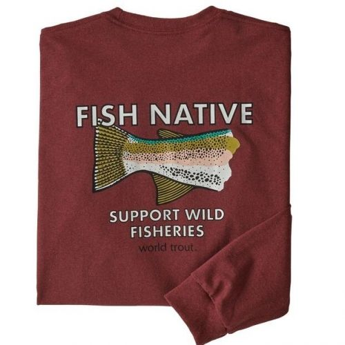 M's LS Native World Trout Responsibili-Tee Oxide Red (OXDR)